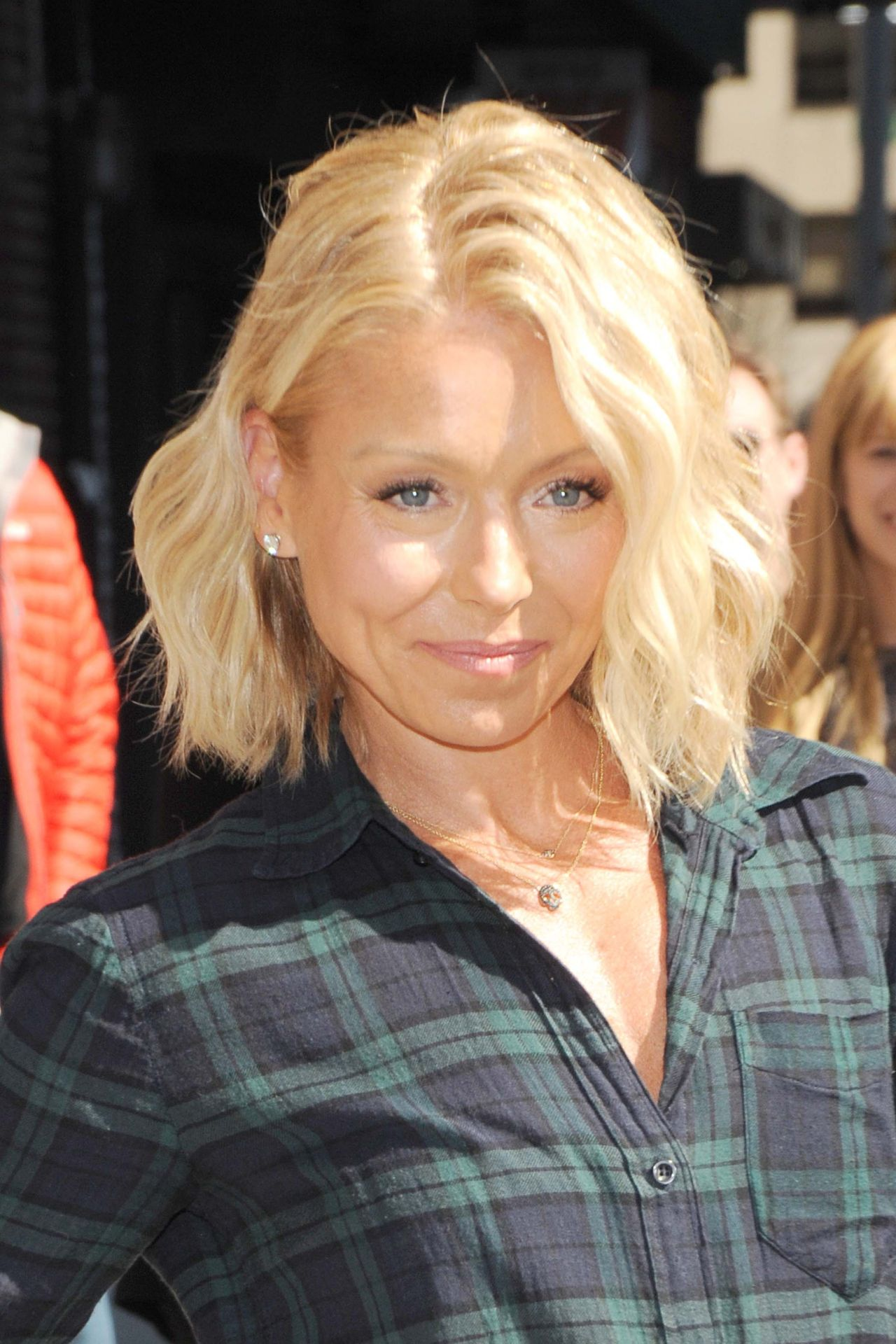 Kelly Ripa  Arrive to Appear on The Late Show With David