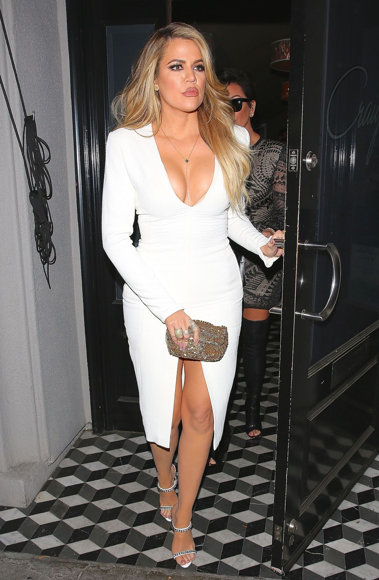 Khloe Kardashian Night Out Style Leaving Craigs