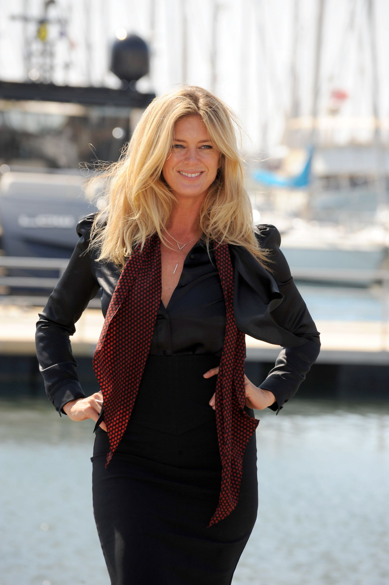 Rachel Hunter  Photocall for Rachels Tour of Beauty in Cannes April 2015
