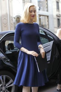 Sarah Gadon Style - Arrives Armani Hotel In Milano