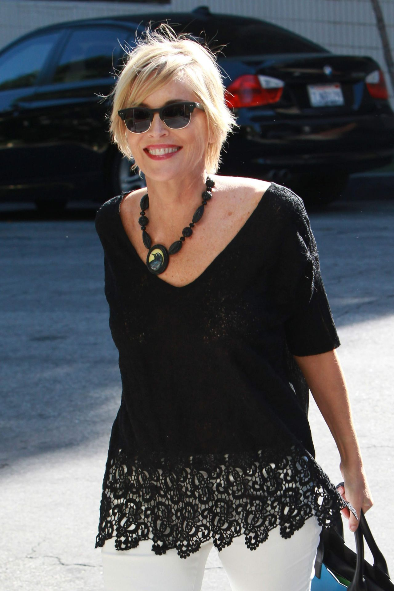 Sharon Stone  Arrives at the Sunset Marquis Hotel in Hollywood  April 2015