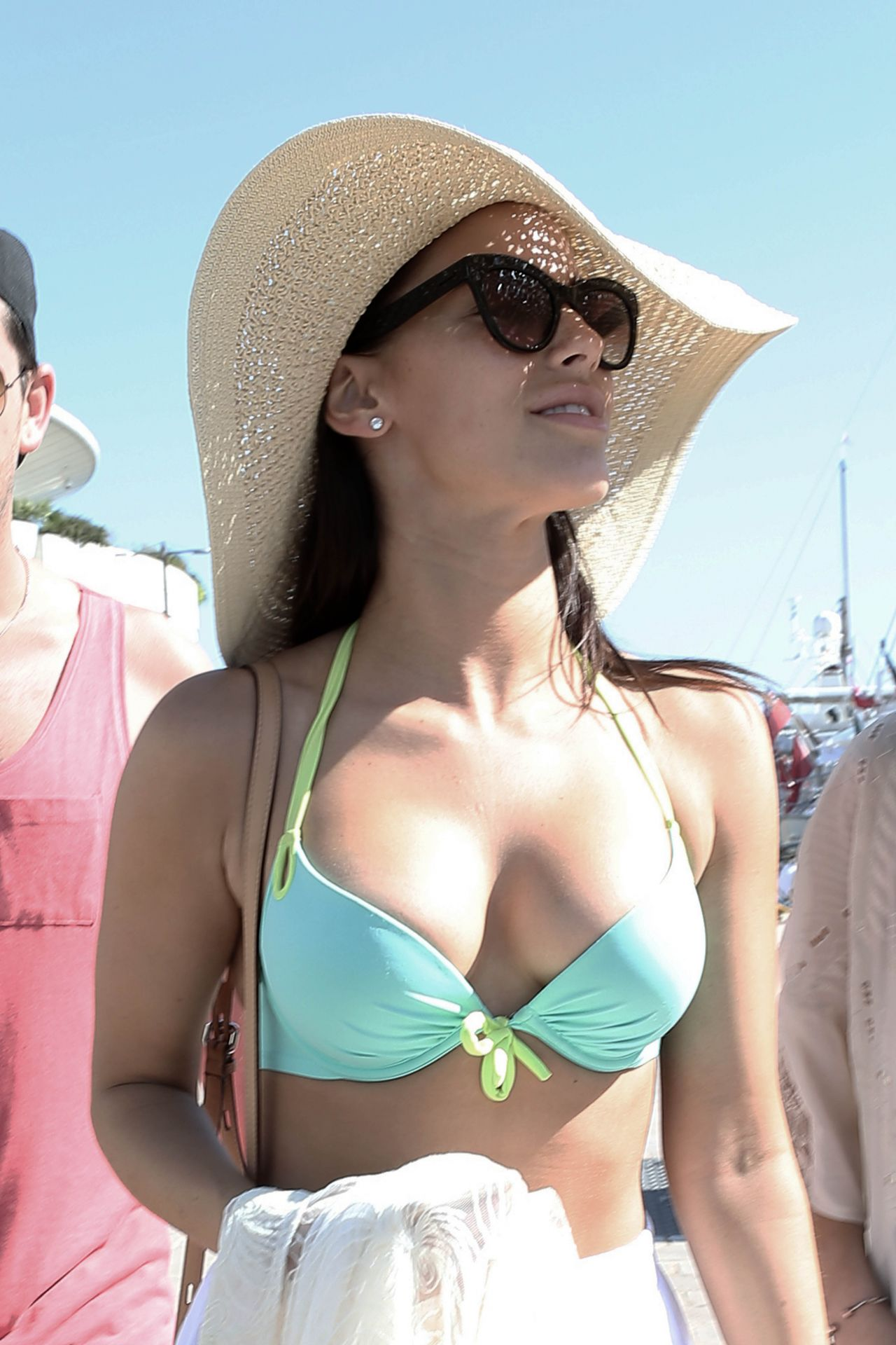 Jessica Lowndes Bikini Candids  on a Boat in Cannes France May 2015