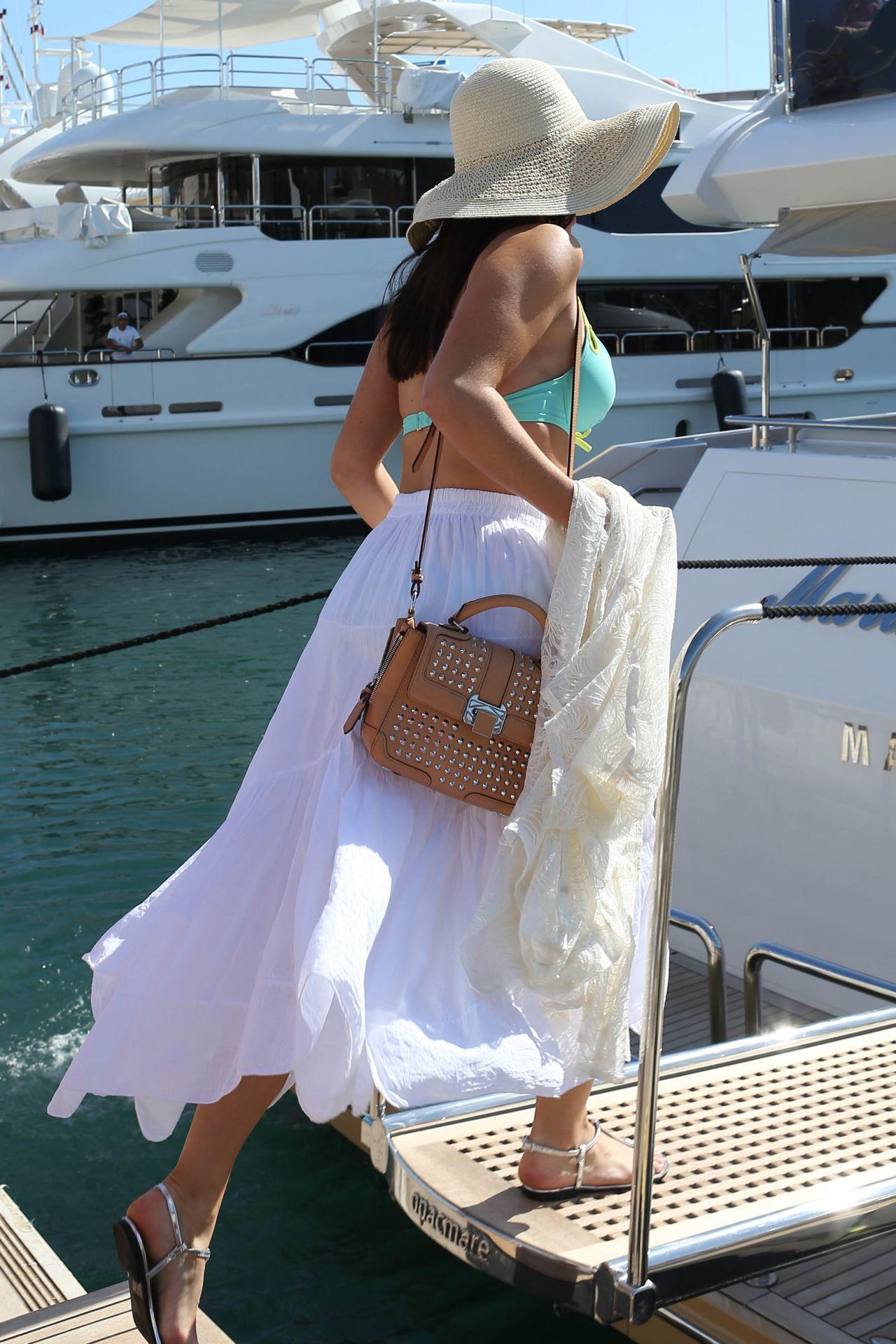 Jessica Lowndes Bikini Candids  on a Boat in Cannes