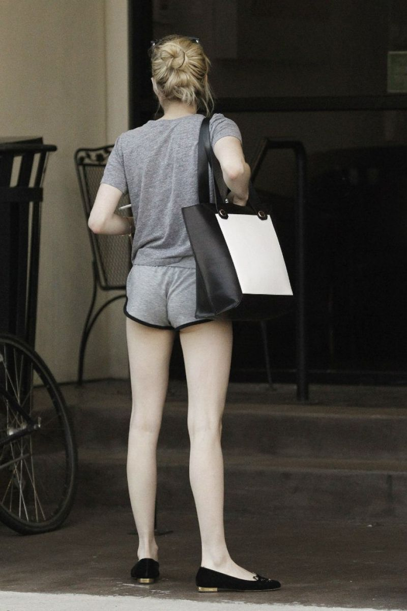 Emma Roberts Leggy in Shorts  New Orleans June 2015