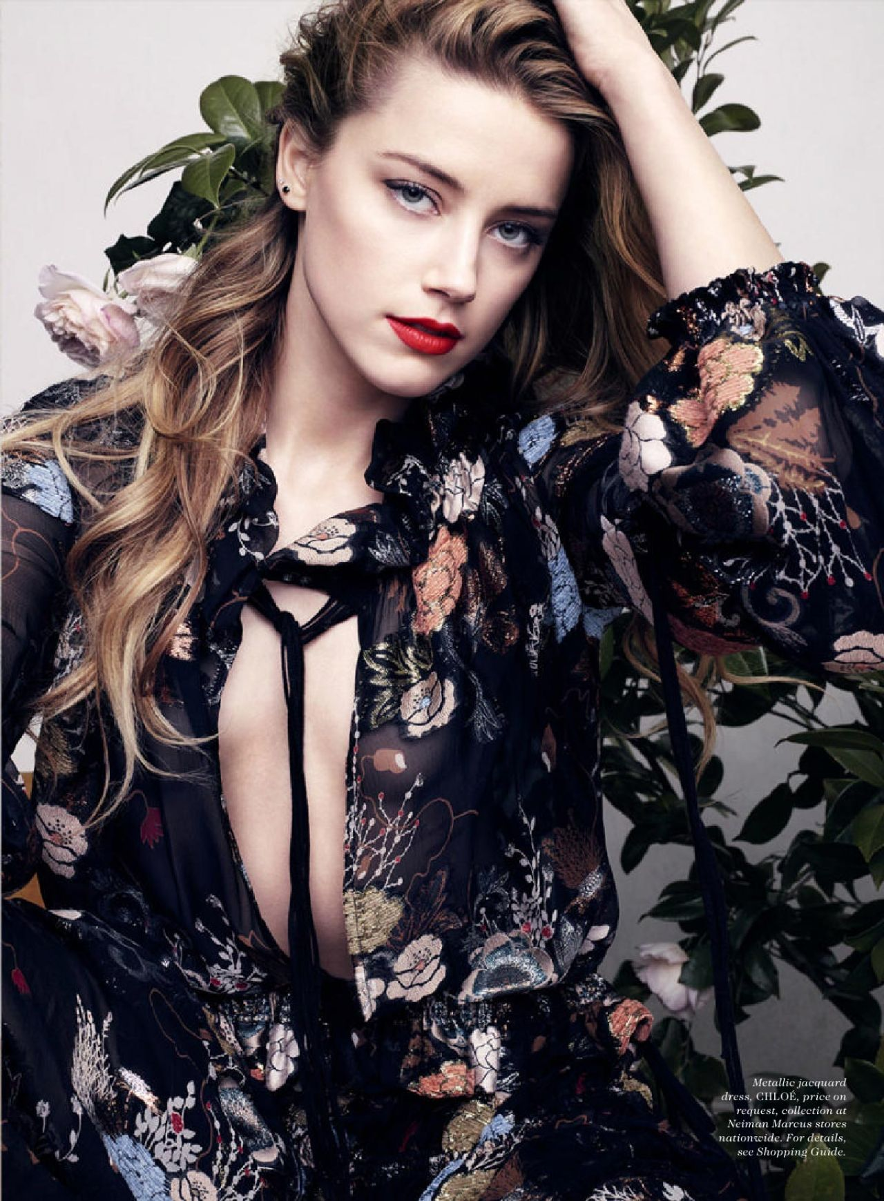 Amber Heard  Elle Magazine July 2015 Issue and Photos