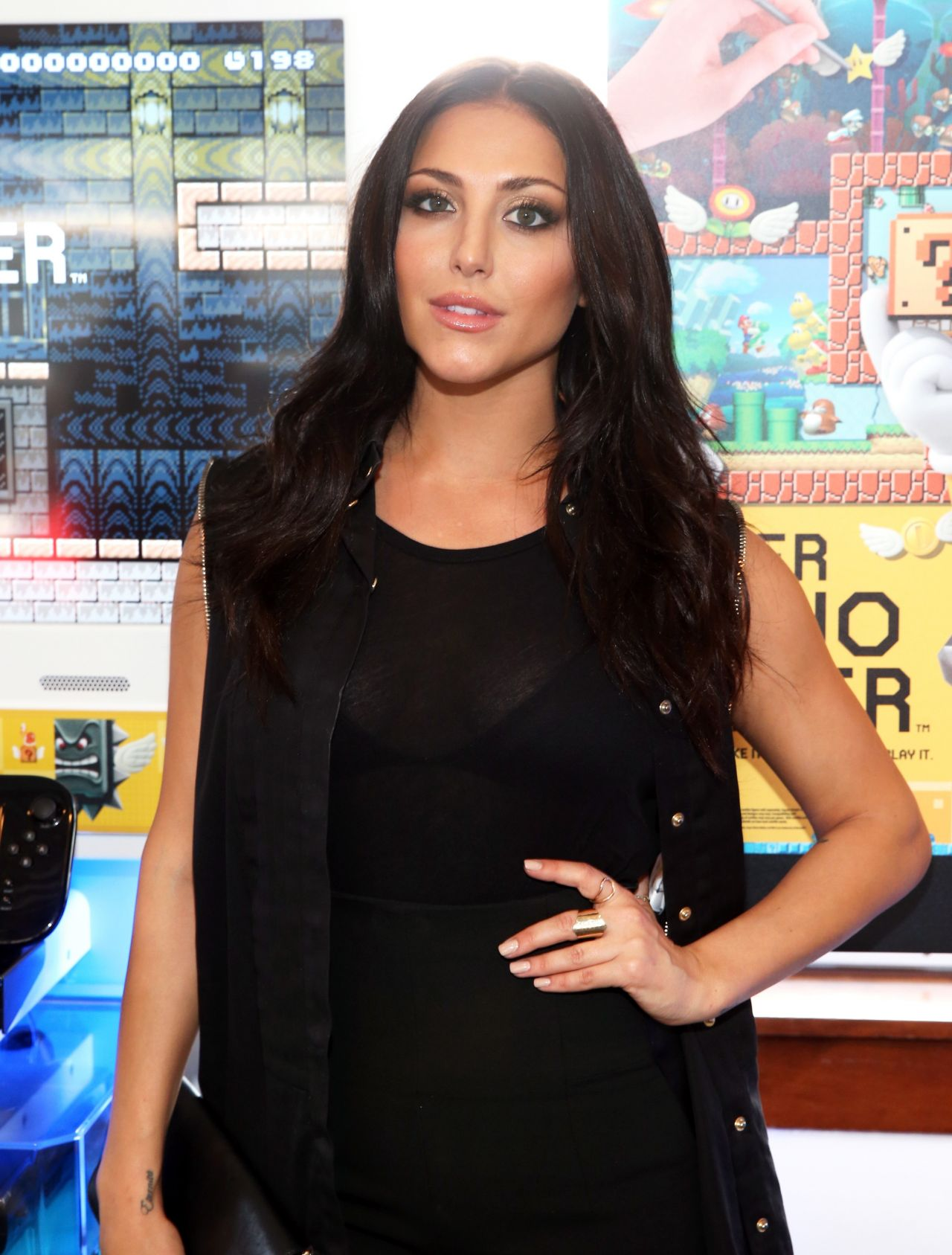 Cassie Scerbo Nintendo Lounge On The TV Guide Yacht At