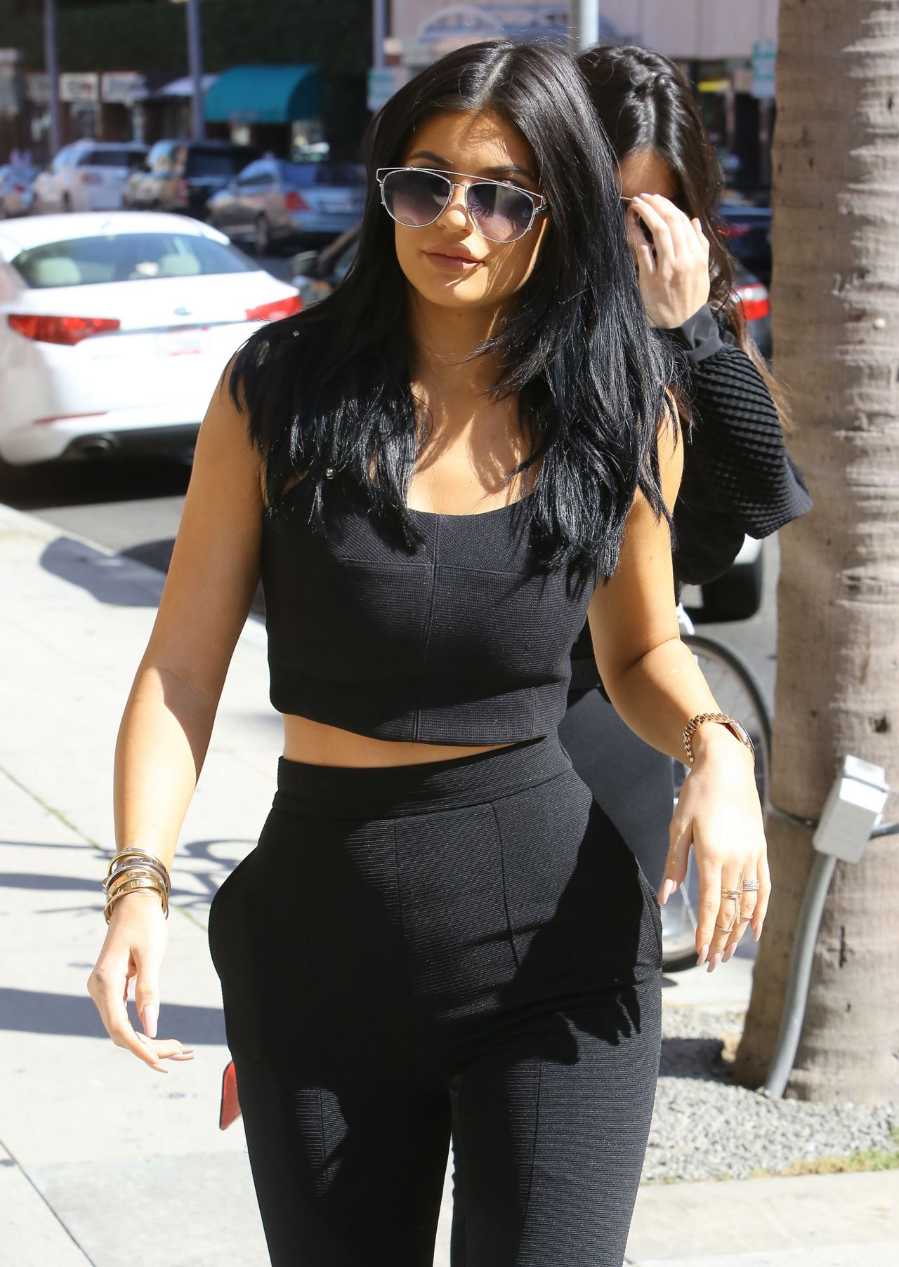Kylie Jenner Street Fashion  Beverly Hills July 2015