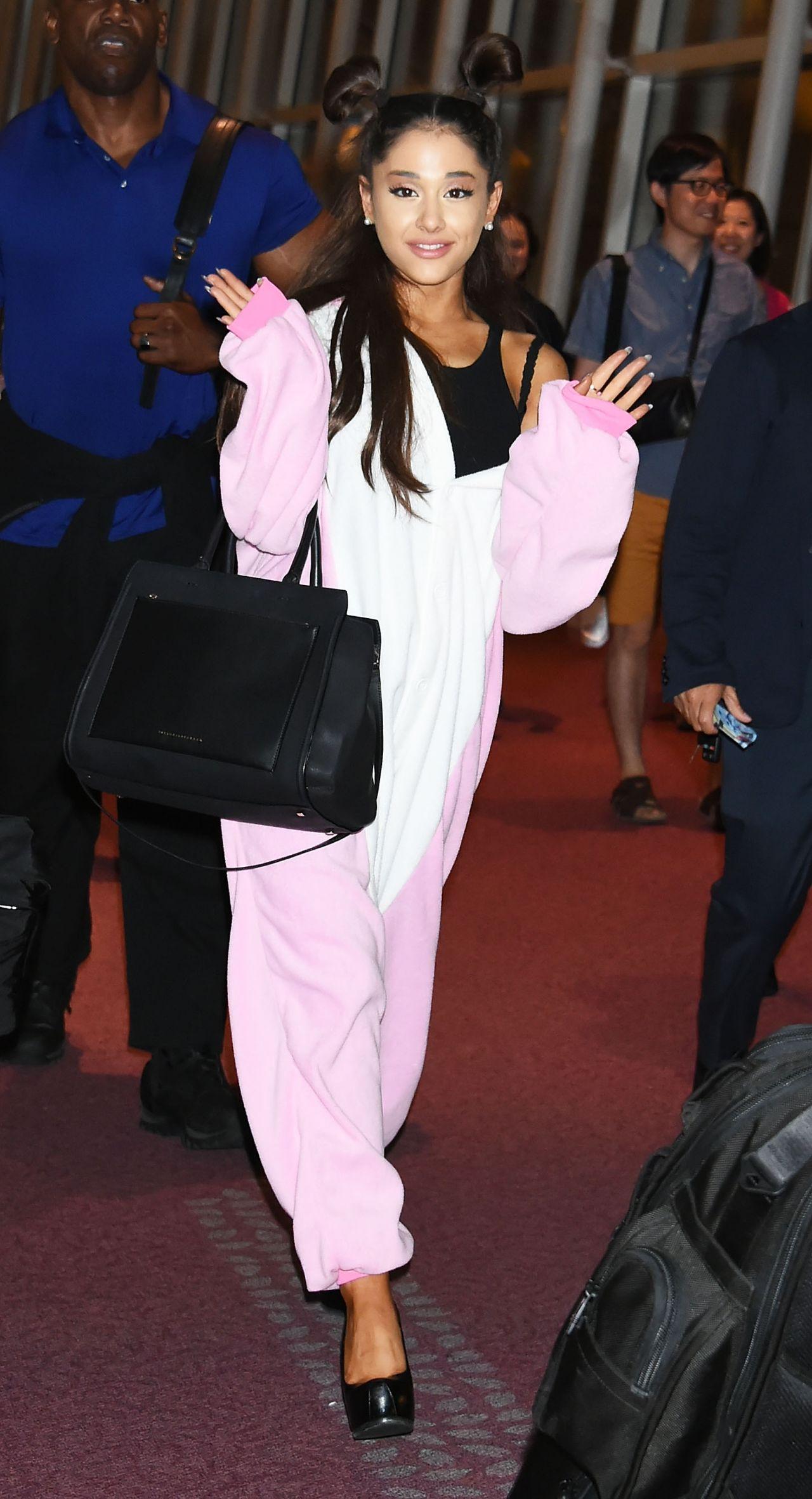Ariana Grande Airport Style  at Haneda Airport in Tokyo