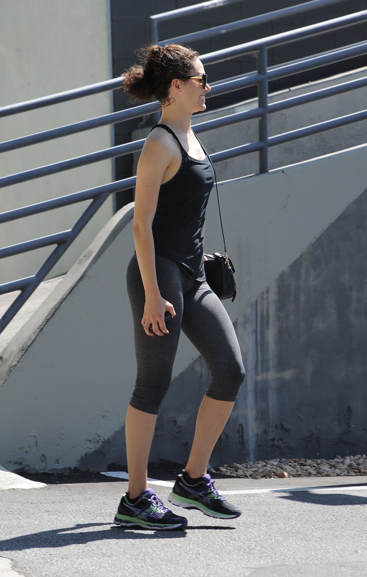Emmy Rossum In Leggings Out In Beverly Hills August 2015