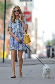 Olivia Palermo Summer Style - Walking Dog