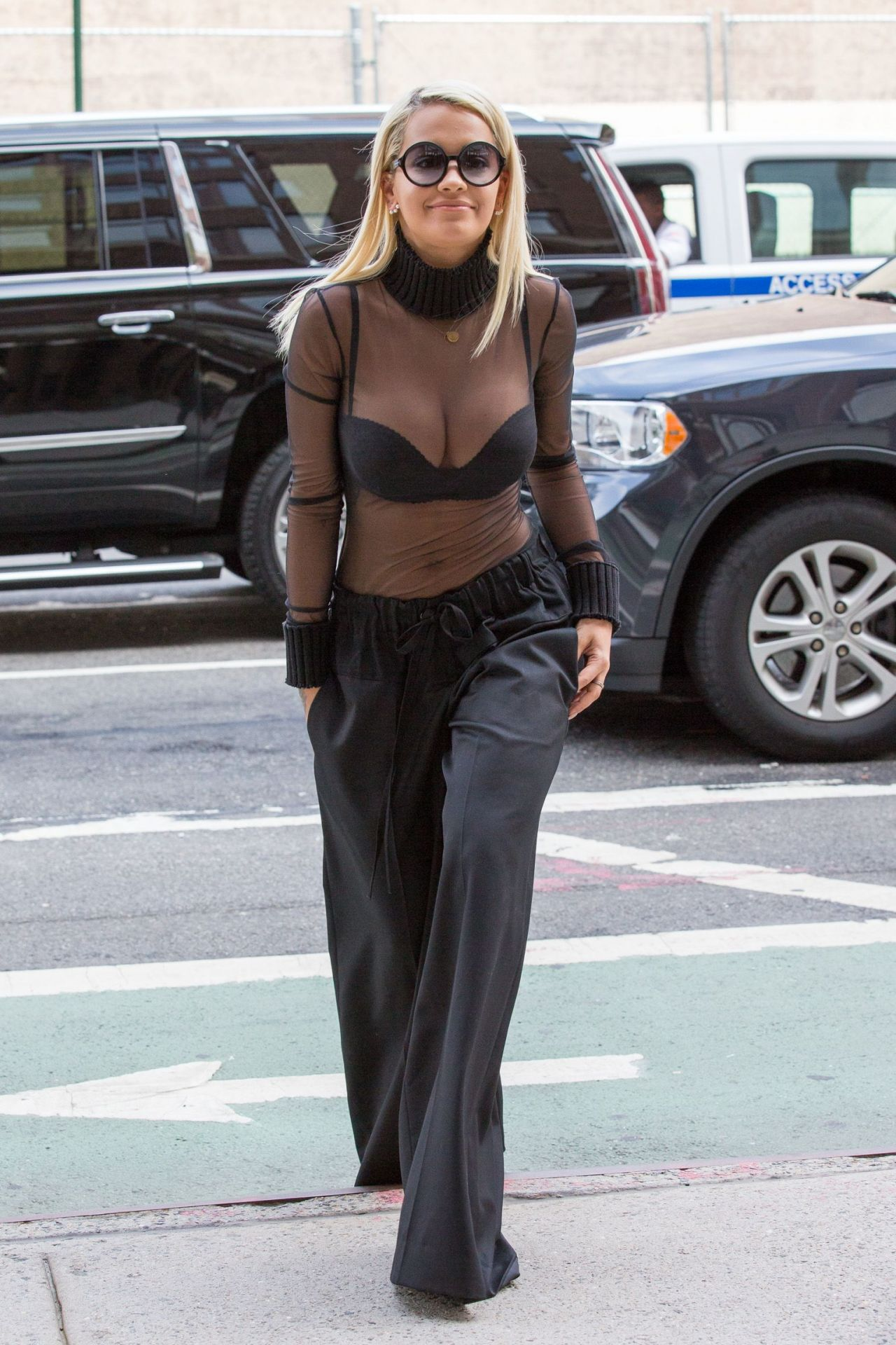 Rita Ora Casual Style  Out in New York August 2015