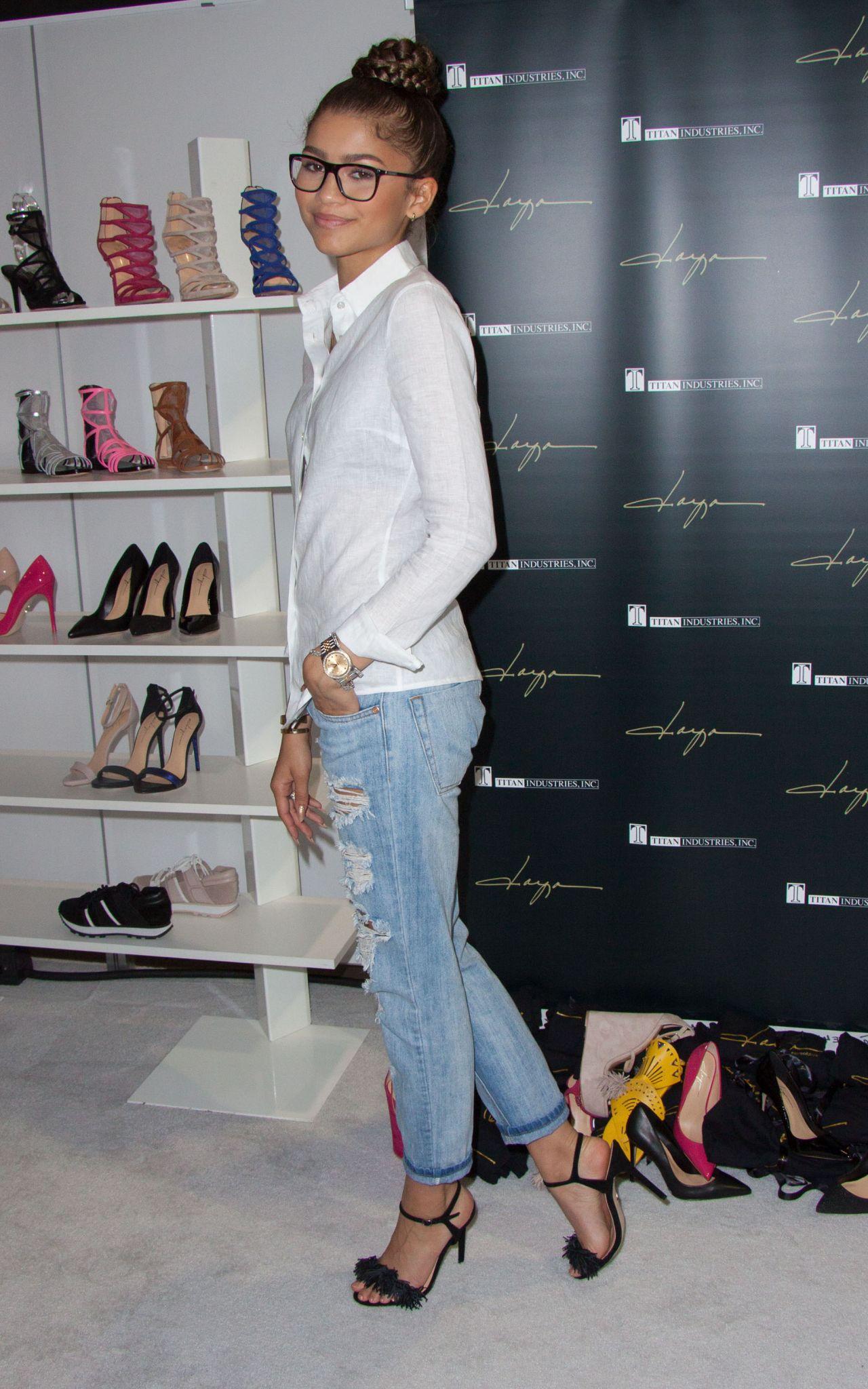Zendaya Coleman at Her New Shoe Collection Premiere Daya