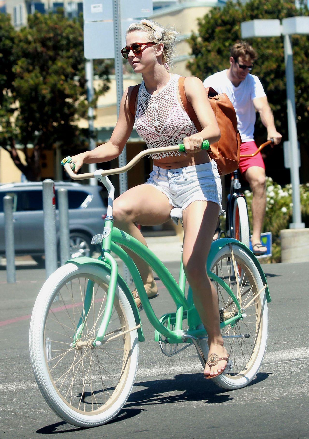 Julianne Hough in a Bikini  Riding a Bike in Manhattan