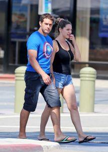 Kelly Brook & Boyfriend Jeremy Parisi - In Manhattan