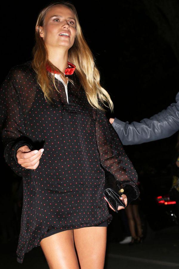 Natasha Poly - Leaving Versace Ss2016 Show In Milan