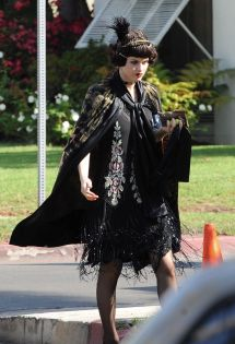 Alexandra Daddario - Set Of American Horror Story