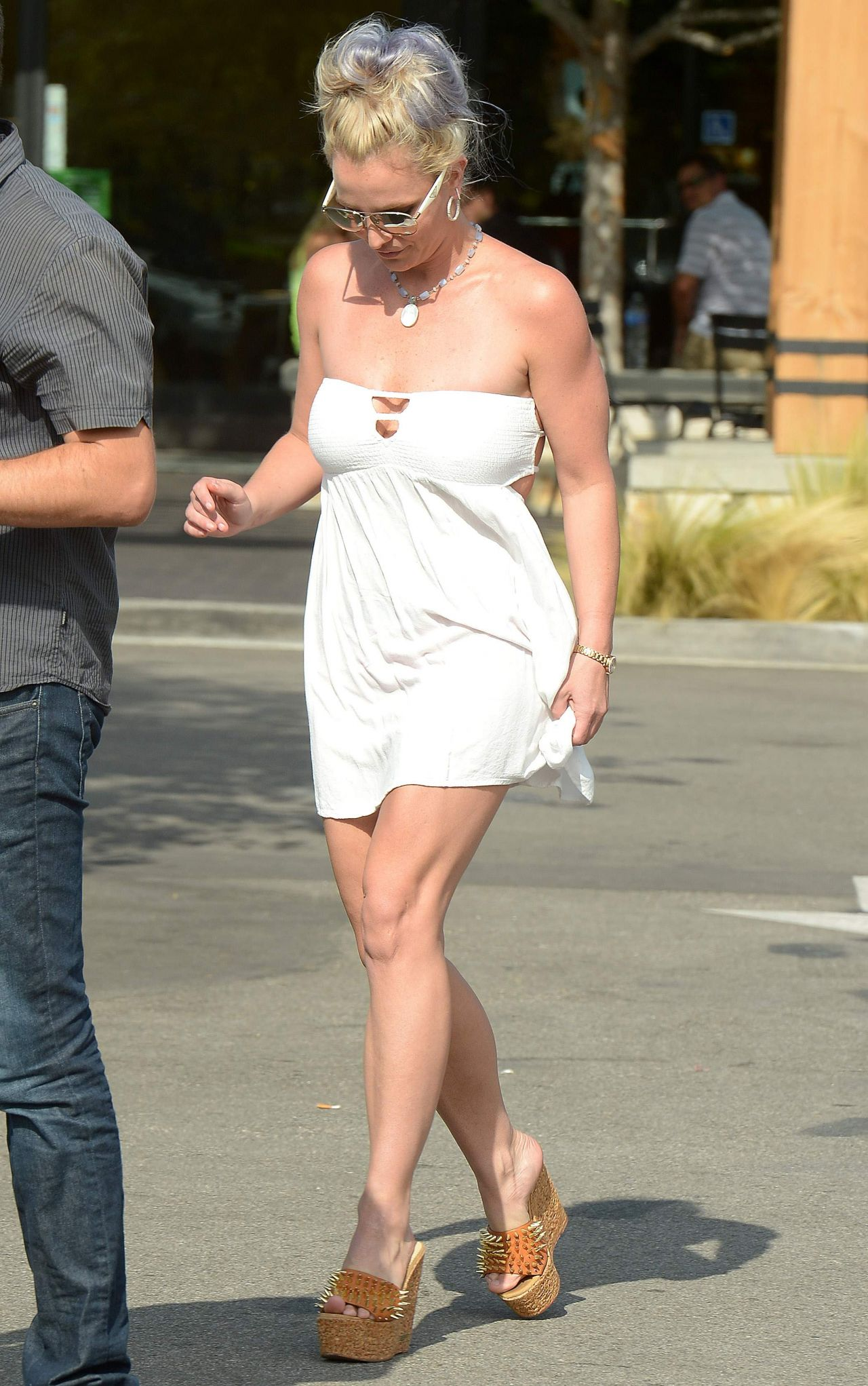 Britney Spears in Summer Mini Dress  Out in Los Angeles