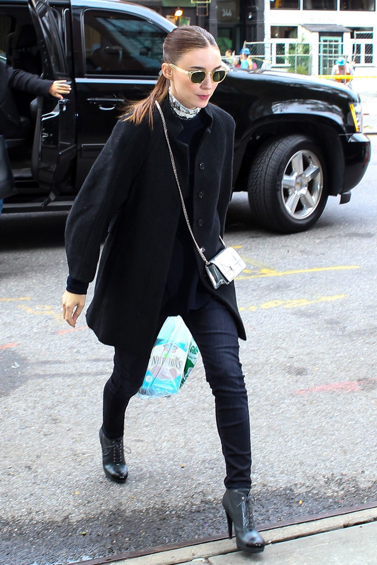 Rooney Mara Autumn Style  Out in New York City October 2015