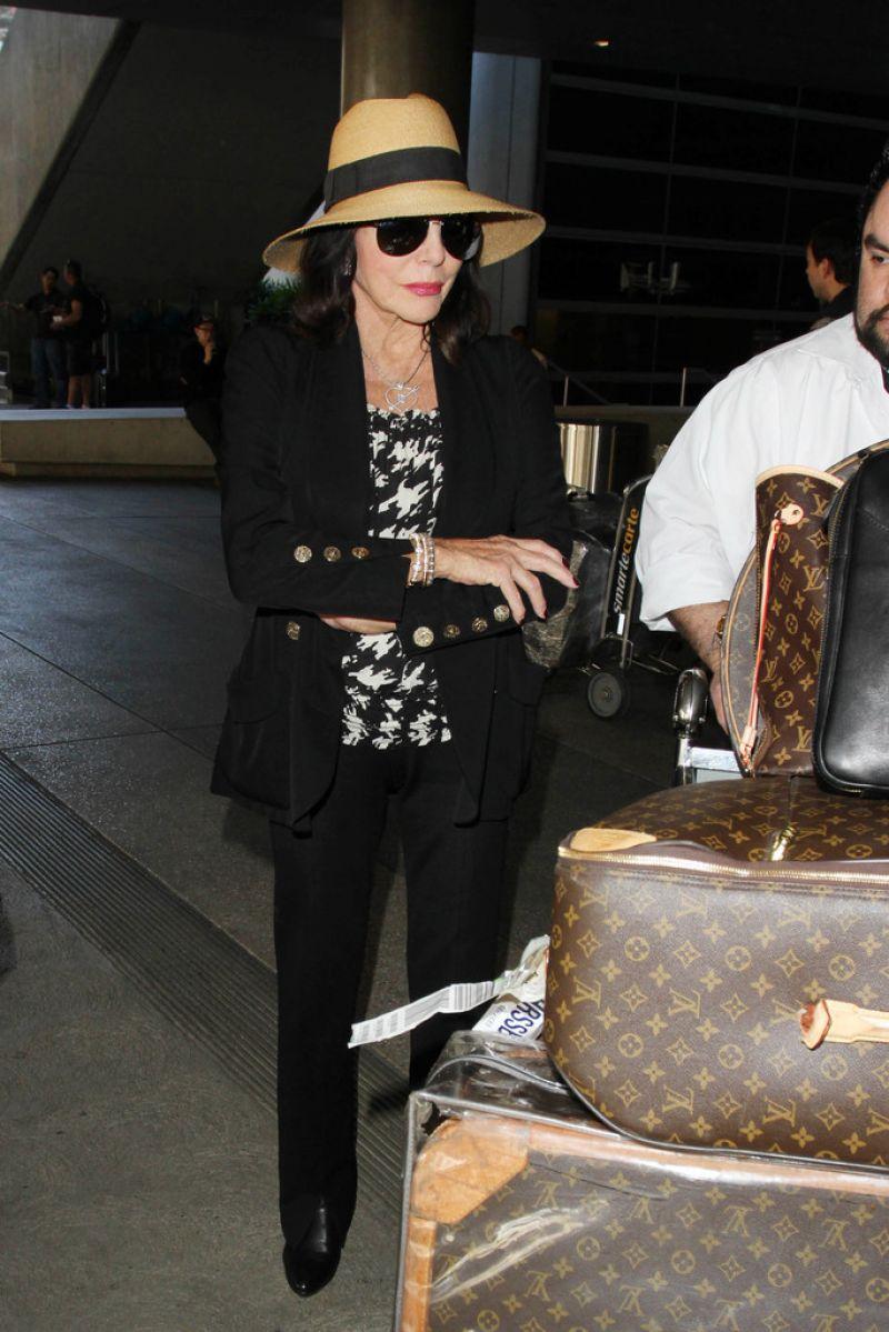 Joan Collins at LAX Airport November 2015