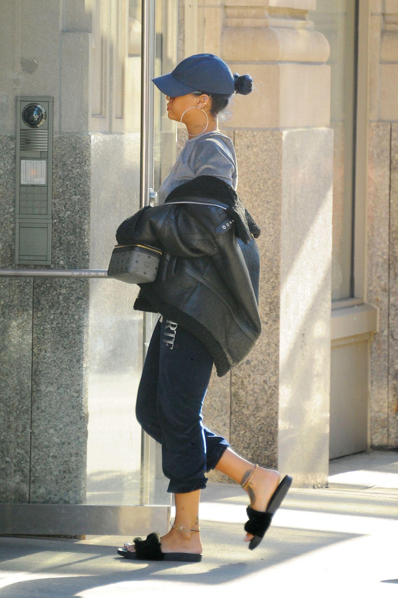 Rihanna Street Style  Out New York City November 2015