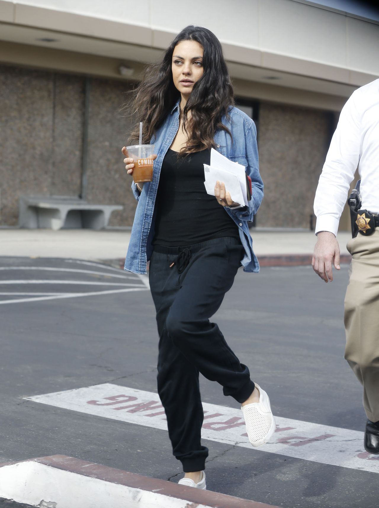 Mila Kunis Street Style  Out in Los Angeles December 2015