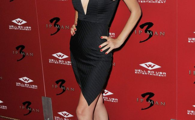 Bai Ling Ip Man 3 Premiere At The Pacific Theatres In