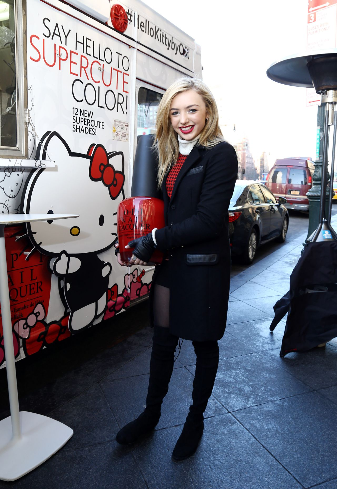Peyton List  Hello Kitty by OPI Collection Launch in