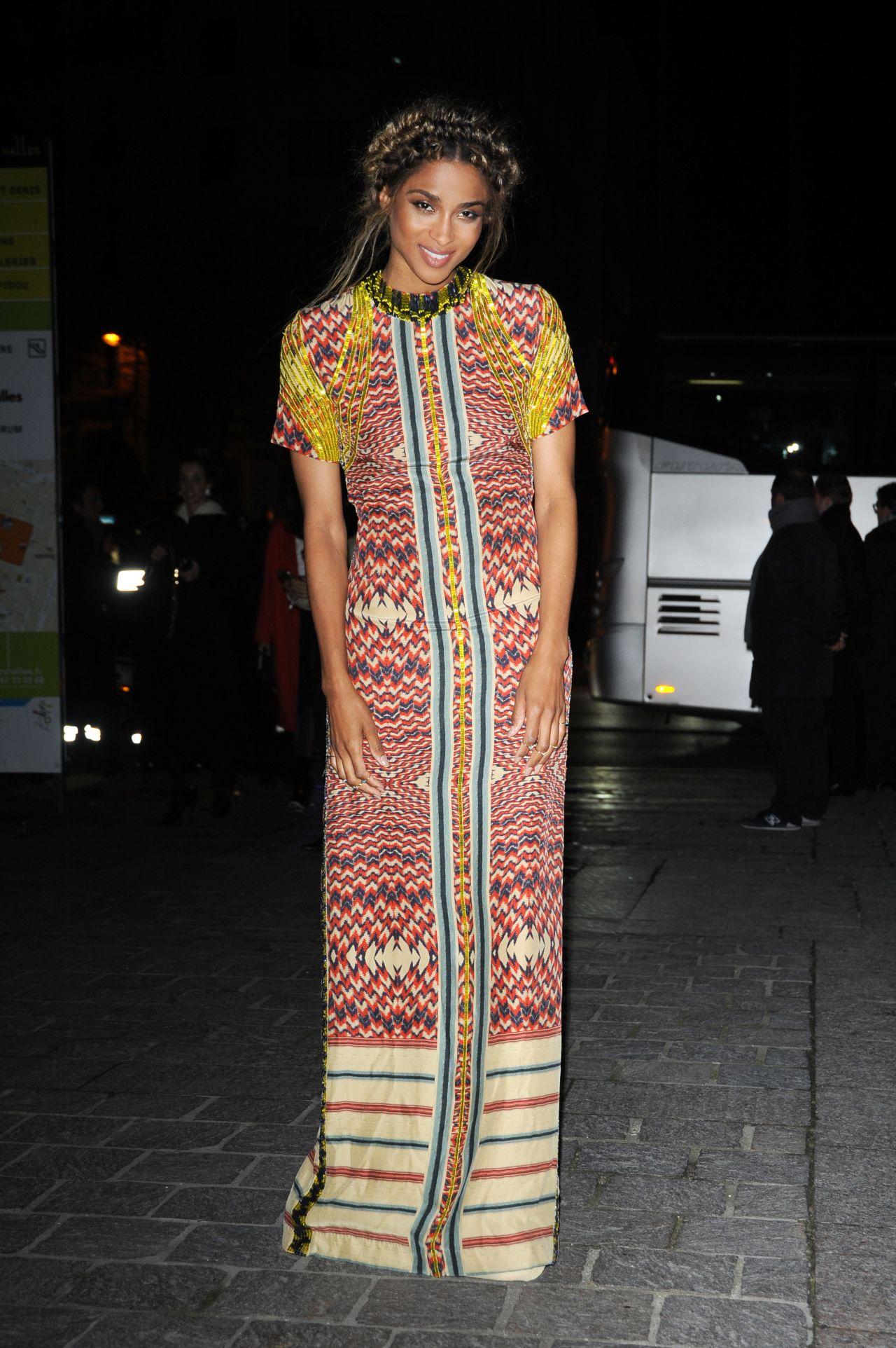 Ciara Arriving at HM Fashion Show  Paris Fashion Week