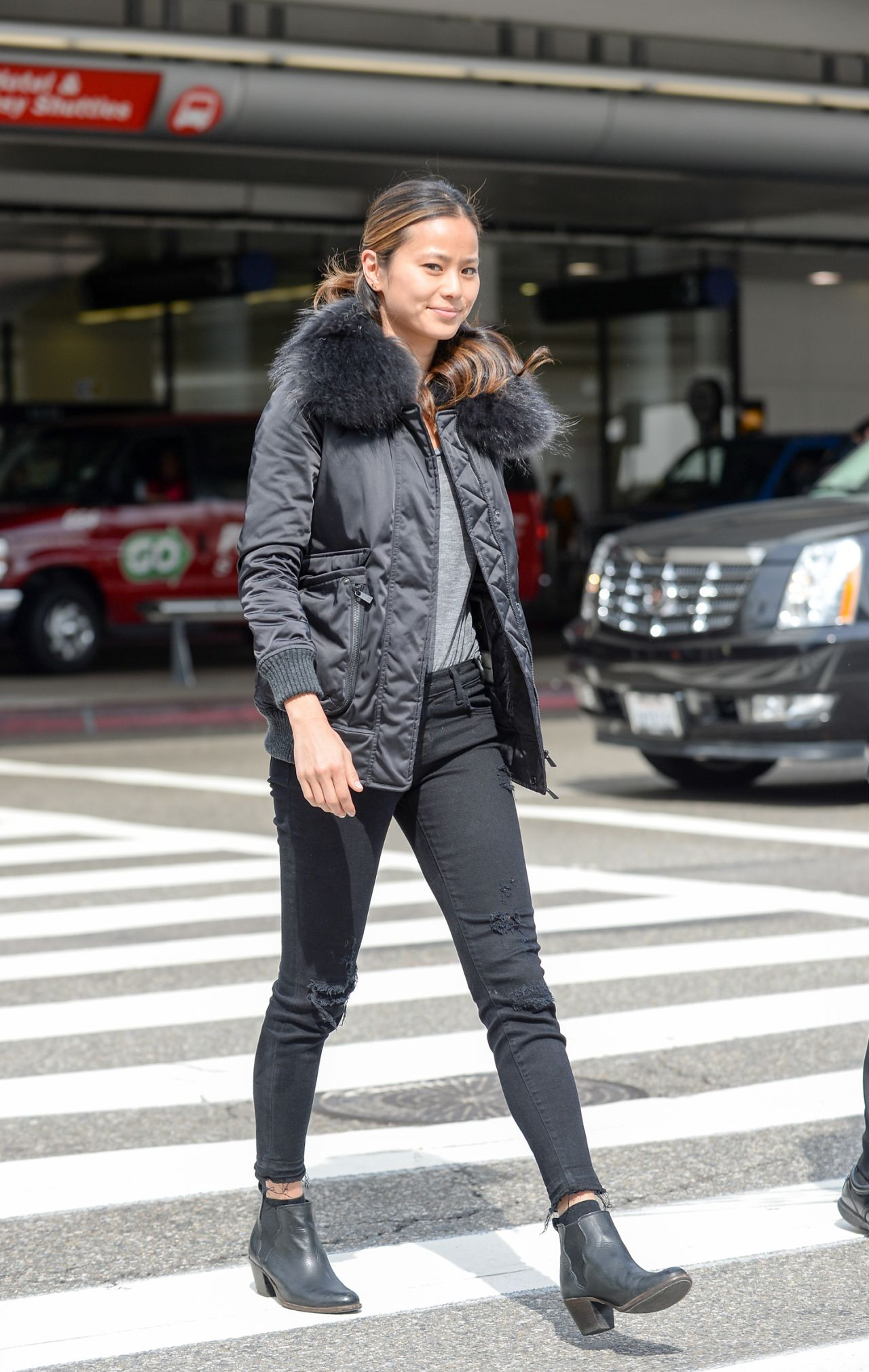 Jamie Chung Street Style  LAX Airport in Los Angeles 332016