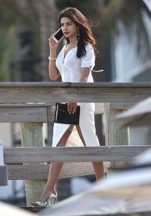 Priyanka Chopra - Set Of 'baywatch' In Miami Fl 3 1 2016