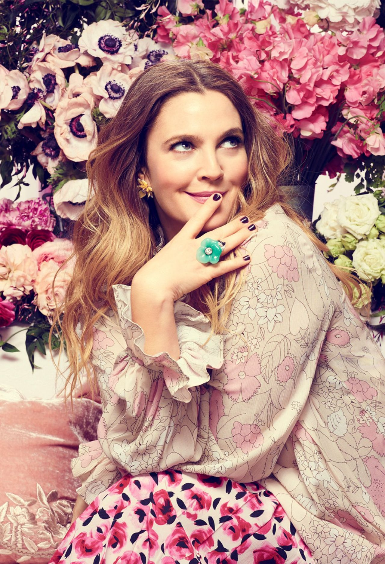 Drew Barrymore Photoshoot For Good Housekeeping May 2016