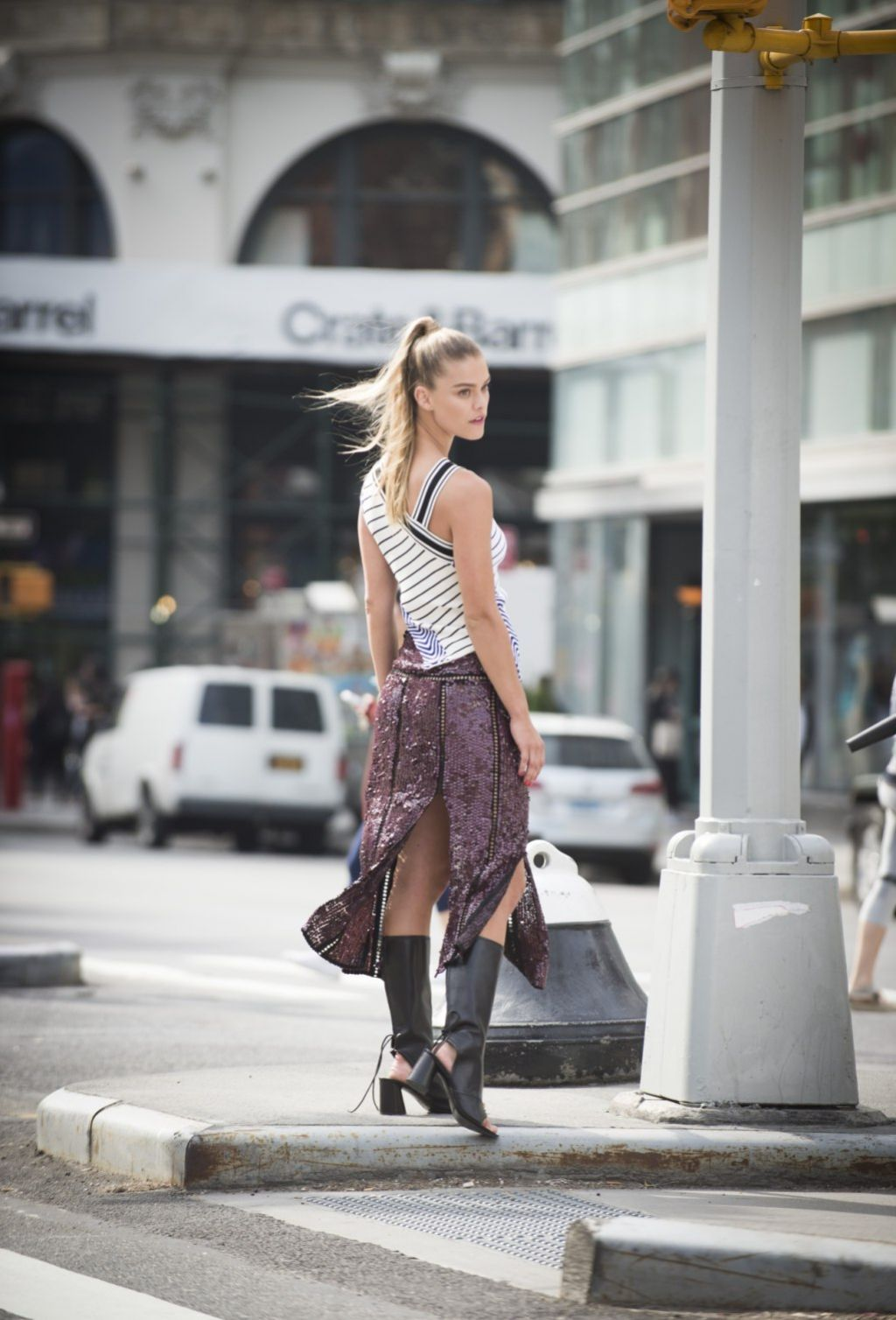 Nina Agdal  Photoshoot in New York City 4252016