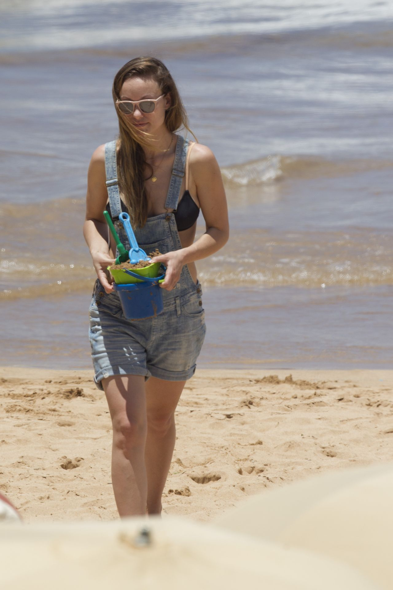 Olivia Wilde in a Bikini at a Beach in Hawaii 4172016
