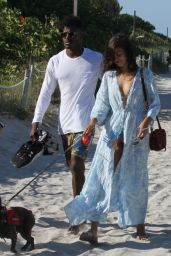 Shanina Shaik With Boyfriend DJ Ruckus on The Beach in Miami Beach 4/24/2016