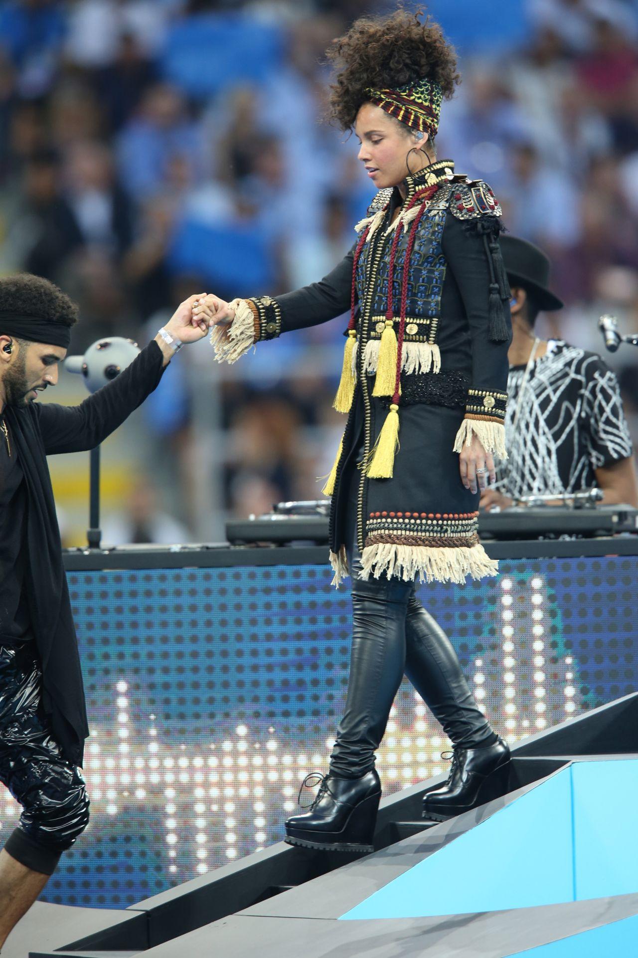 Alicia Keys Gives a Concert the UEFA Champions League Final at Milan Italy 5282016