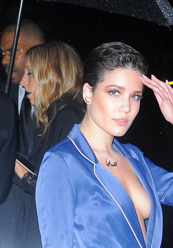 Halsey Night Out Style - Leaves the Boom Boom Room After the Met Gala Afterparty in NYC 5/3/2016