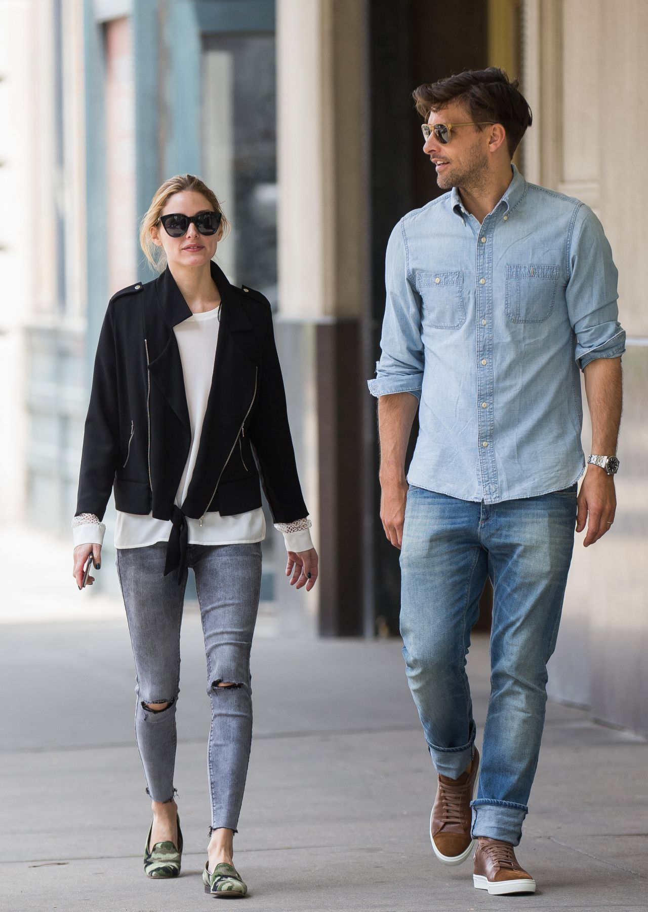 Olivia Palermo Street Style Out In NYC 5142016