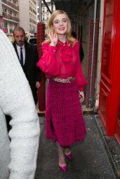Elle Fanning Out in Paris, France 6/3/2016