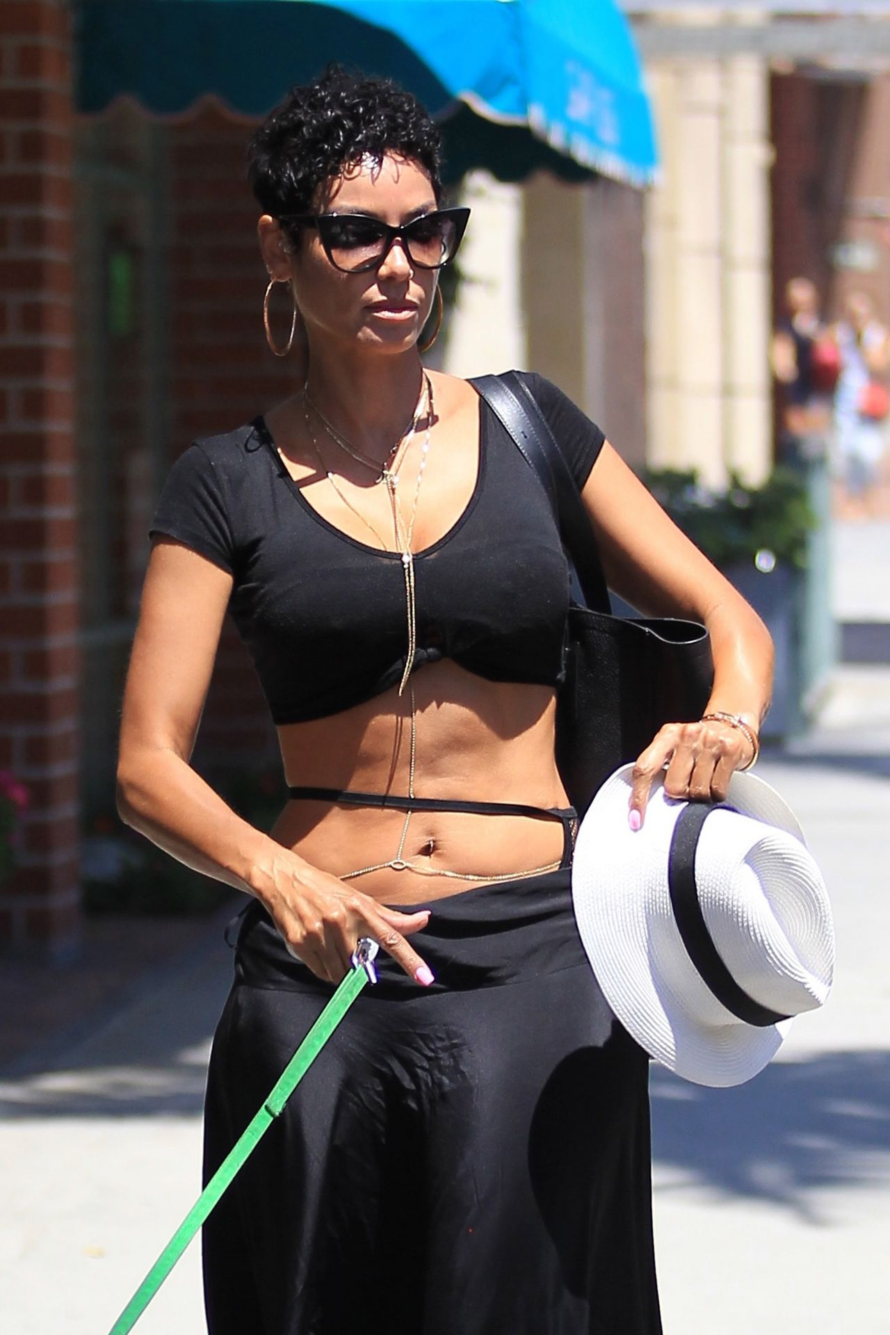 Nicole Murphy  Take a Seat at the Nail Salon in Beverly Hills 6202016