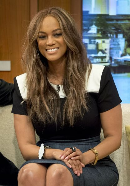 celebrity Tyra Banks - Appears On Good Morning Britain 6/28/2016