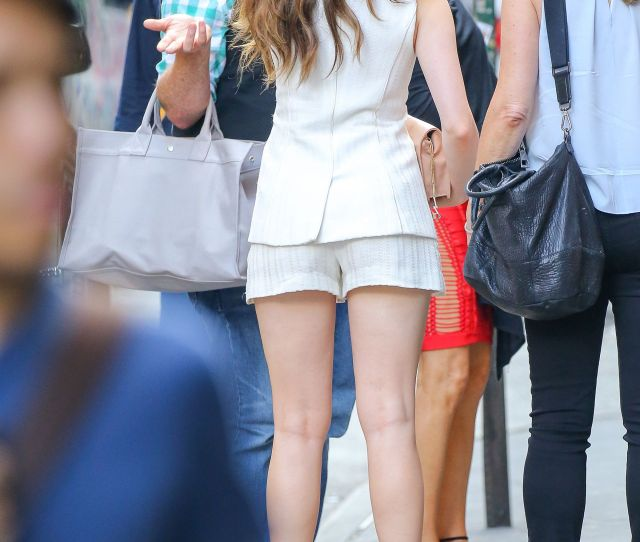 Elizabeth Gillies Shows Off Her Legs In A Pair Of Shorts New York City June