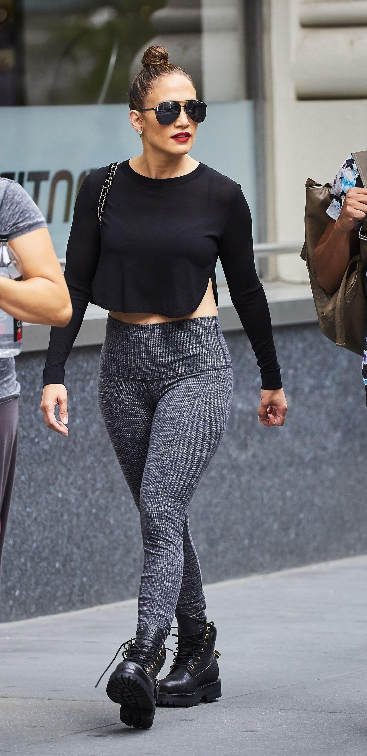 Jennifer Lopez in Tights  New York City 07102016