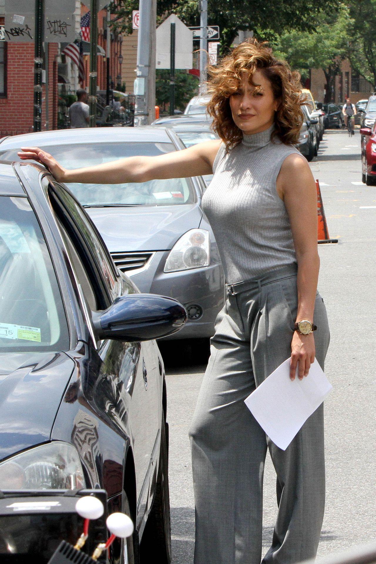 Jennifer Lopez  Shades of Blue SEt Photos  New York