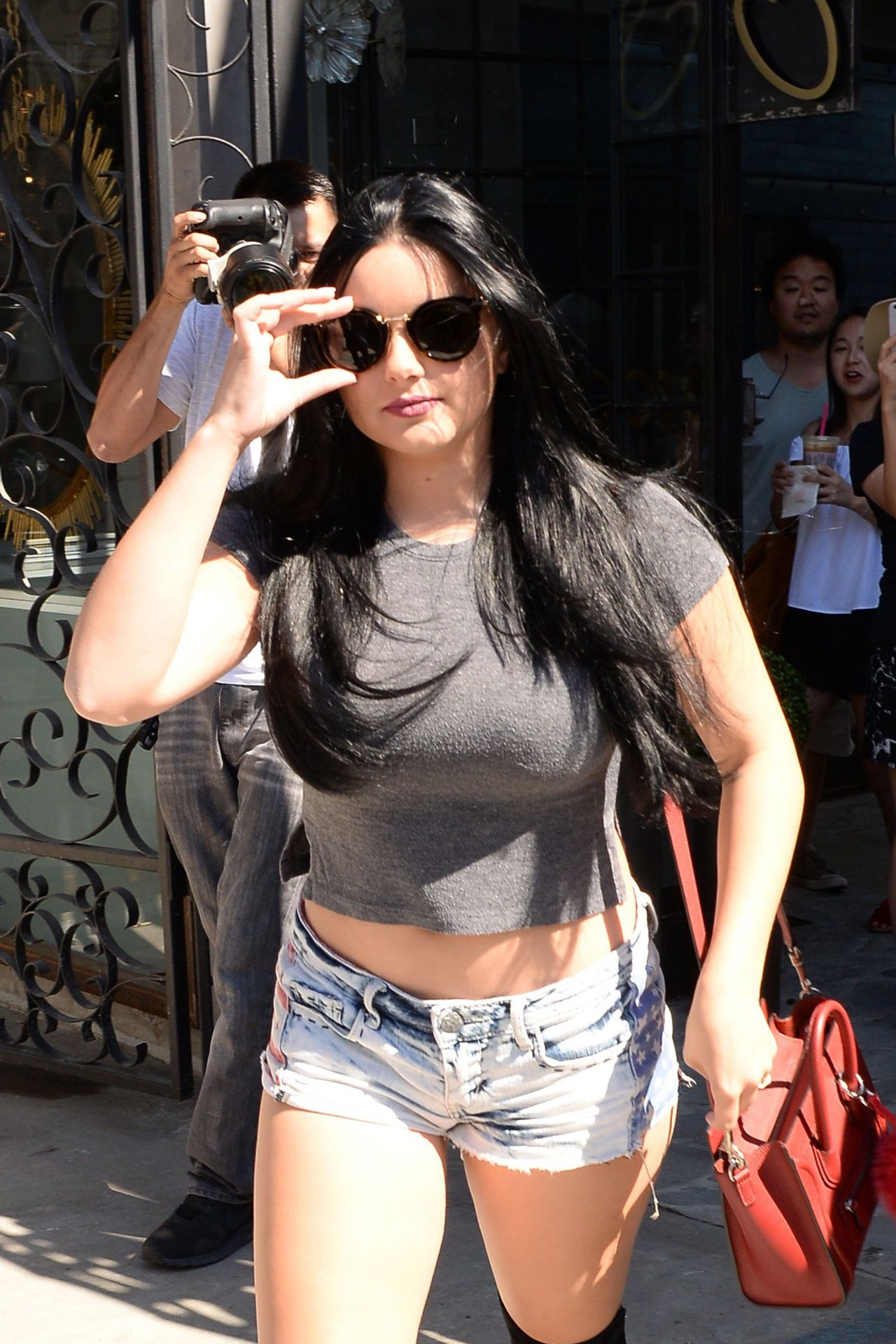 Ariel Winter in Jeans Shorts  West Hollywood 8112016