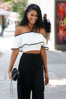 Chanel Iman Style - Leaves Restaurant In West Hollywood