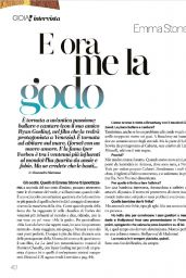 Emma Stone - Gioia! September 2016 Issue