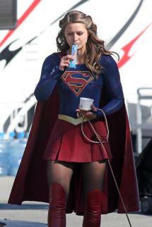 Melissa Benoist - 'supergirl' Set In Vancouver 8 18 2016
