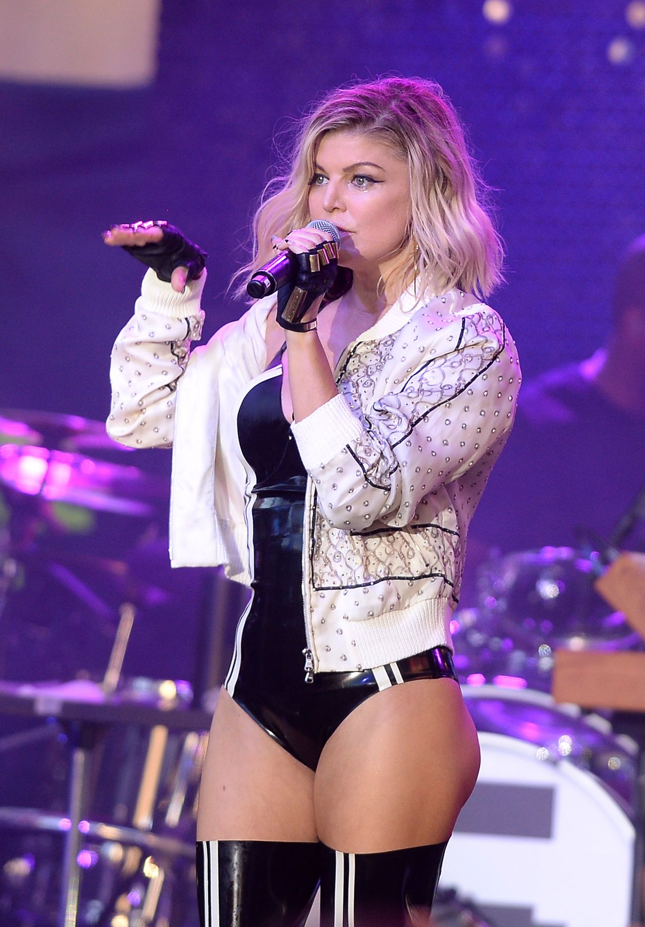 Stacy Fergie Ferguson Performing at Pandora Summer Crush in Los Angeles August 2016