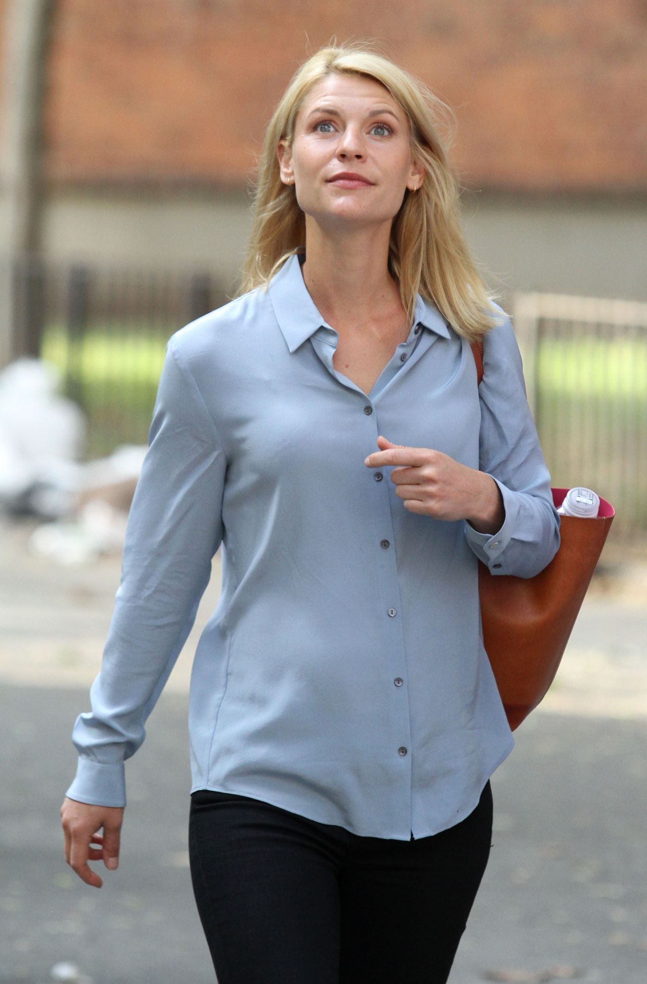 Claire Danes Homeland Set in NYC August 2016