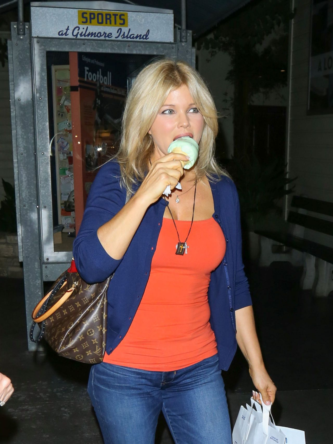Donna DErrico Casual Style  Shopping at The Grove in Los
